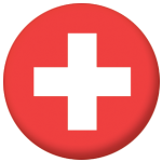 Switzerland Country Flag 25mm Button Badge